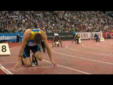 Men&#039;s 400m final Diamond League Zurich Jeremy Wariner 44.13