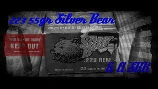 Silver Bear 223 55gr FMJ & A Short Barrel AR-15 Rifle Gel Test (HD)