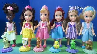 My First Disney Princess collection PeCinderella Tiana Ariel Belle Rapunzel Aurora