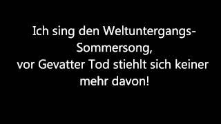 Y-Titty Der Letzte Sommer Lyric