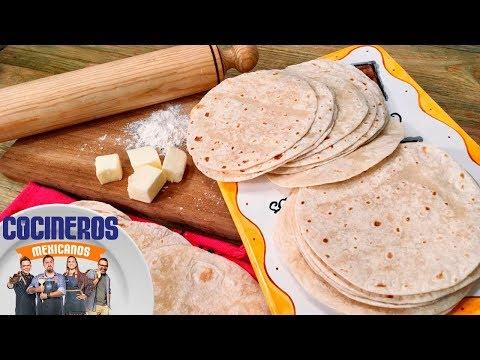 Receta: Tortillas de harina | Cocineros Mexicanos
