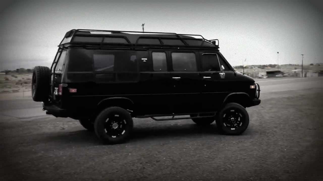 Custom Black Lifted 4x4 GMC Van - YouTube