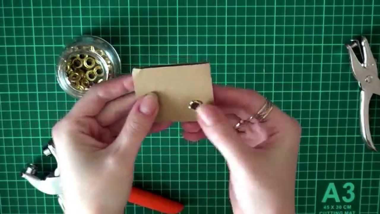 Как сделать люверсы на