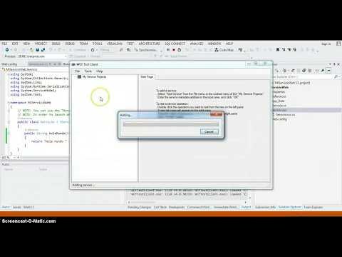 como crear un servicio web con wcf y vs facil
