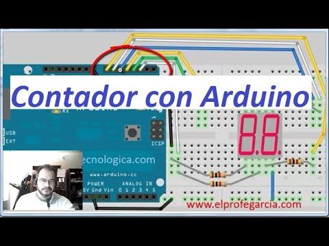 Contador 0-9 con ARDUINO (Sentencia SWITCH  / CASE)