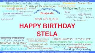 Stela   Languages Idiomas - Happy Birthday