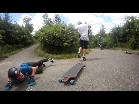 Longboarding Train Fail (HD)