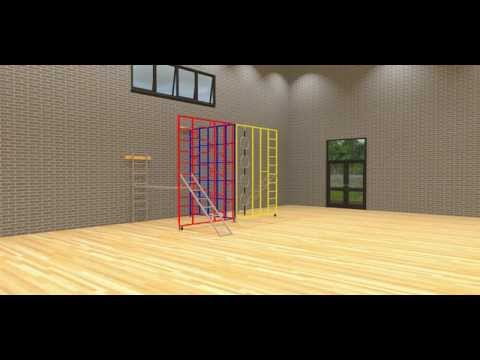 Steel 3-Gate Foldaway Climbing Frame from Continental Sports