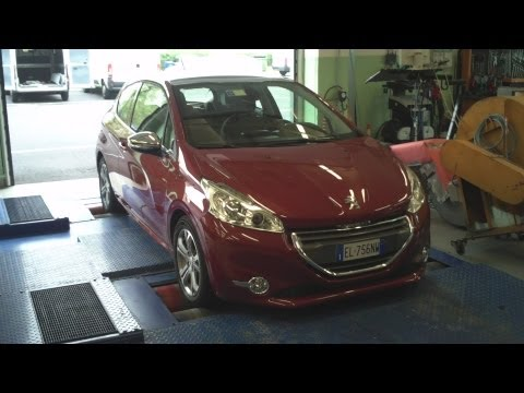 PEUGEOT 208 1.6 e-HDi 92 Cv 3p Dyno Test Full HD 1080p