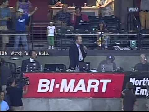 Rich Burk sings Take Me Out To The Ballgame at PGE Park   Portland Beavers