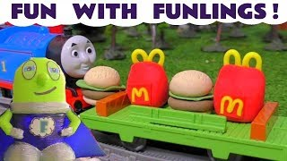 Funny Funlings Fun at McDonalds and at the Hot Wheels races with Cars McQueen TT4U