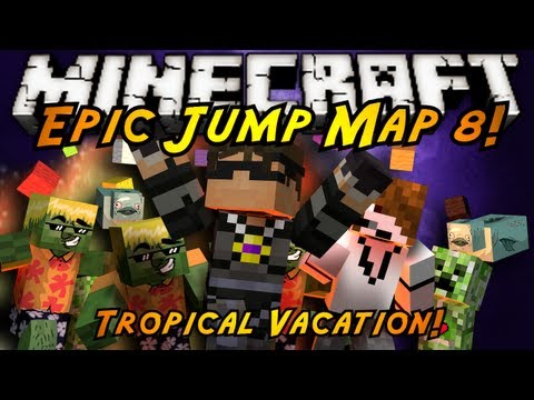 Minecraft: Epic Jump Map Tropical Vacation Part 2!