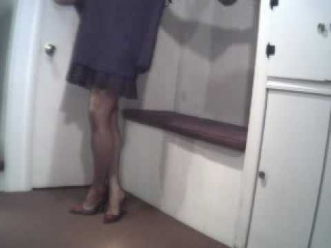 Dancing In My Black Dress And Pumps  Transvestite