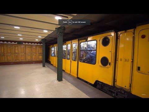 Hungary, Budapest, Metro ride from Hősök tere to Mexikói út