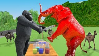 Learn Colors With Wild Animals Toys For Kids | Learn Colors With Wild Zoo Animals for children