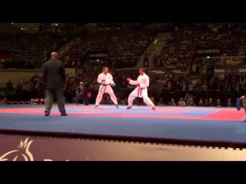 GERMANY vs IRAN Male Team Kumite Finale - 2014 World Karate Championships