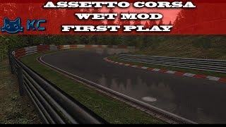Gaming :Assetto Corsa (PC)🚗 Wet Mod First Play