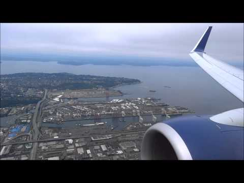 Cloudy landing in Seattle (SEA) Delta Airlines Boeing 737-900ER