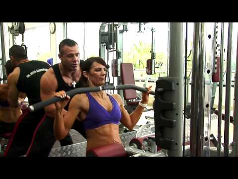 Ladies Wide Grip Lat Pull Down Exercise Image 1