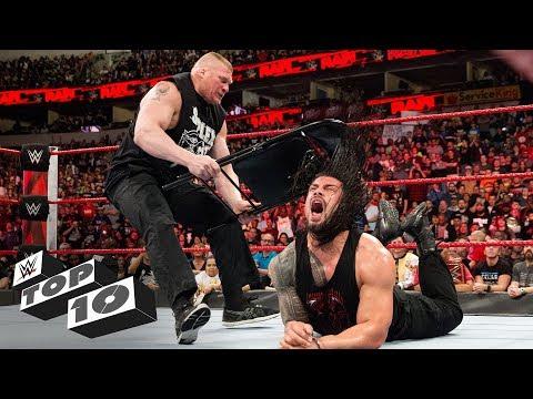 Brock Lesnar's vicious assaults: WWE Top 10, March 26, 2018 thumbnail