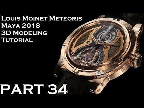 Maya 2018 Louis Moinet Meteoris 3D Tutorial (PART 33)