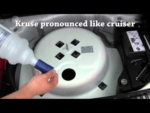 How to replace Adblue DEF diesel exhaust fluid to VW Touareg TDI or clean up a spill