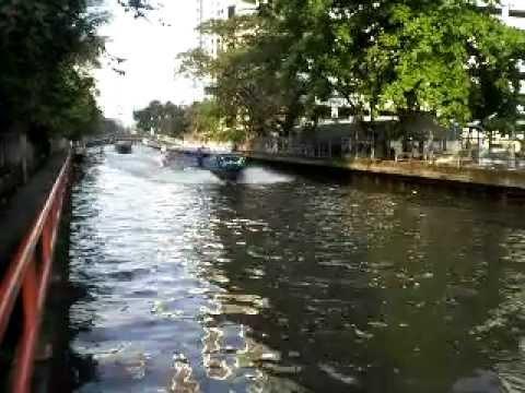 Canal Boats Klong Khlong Saen Saeb Bangkok, Thailand