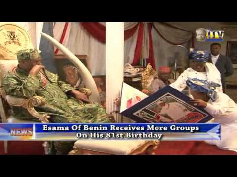 Esama Of Benin Receives More Groups On His 81st Birthday