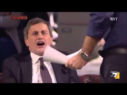 FORMIGLI VS ALEMANNO – LITE PIU' FIGURA DI MERDA DEL SECONDO!! PIAZZA PULITA 11 11 2013