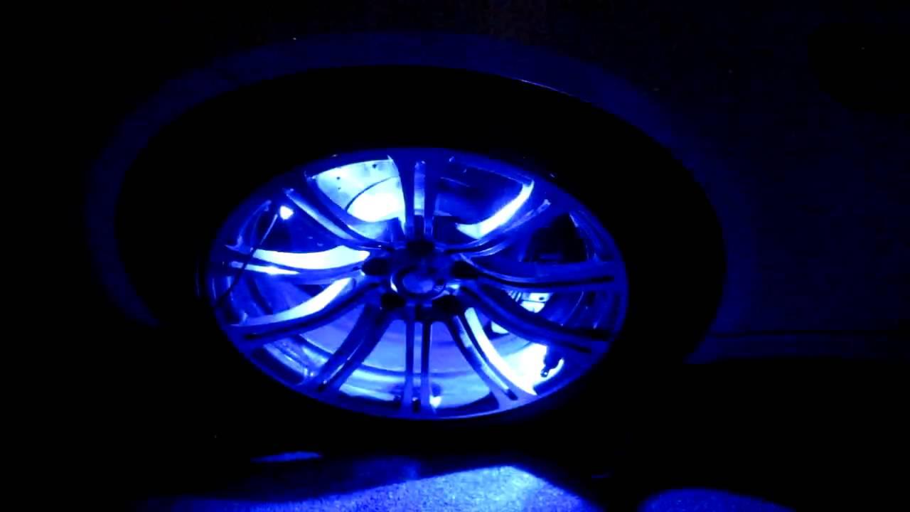 led felgen beleuchtung unterbodenbeleuchtung blau youtube. Black Bedroom Furniture Sets. Home Design Ideas
