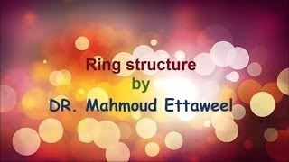carbohydrates , glucose ring structure د.محمود الطويل  DR. Mahmoud Ettaweel