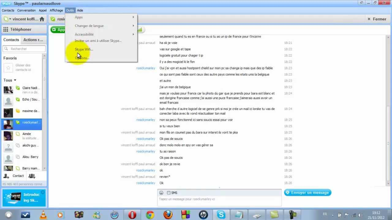 how to search skype messages