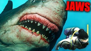 Become The MEGA SHARK And EAT EVERYONE! Shark Hide And Seek! (Depth Gameplay)