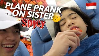 PLANE PRANKS ON SISTER (Hot Sauce!!) | Ranz and Niana