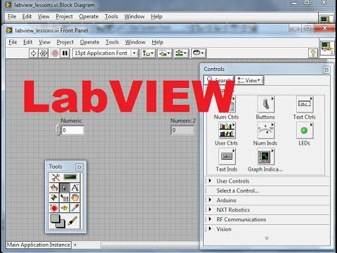 Beginners LabVIEW Tutorial 2: Creating First LabVIEW Program