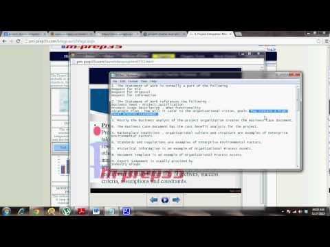 pm-prep35.com - Develop Project Charter - Part 5 of 6