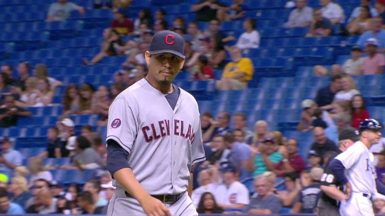 CLE@TB: Carrasco gets Casali to line out to end 6th