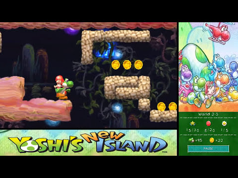 Yoshi's New Island 100% Walkthrough - World 2-8 & World 2-S