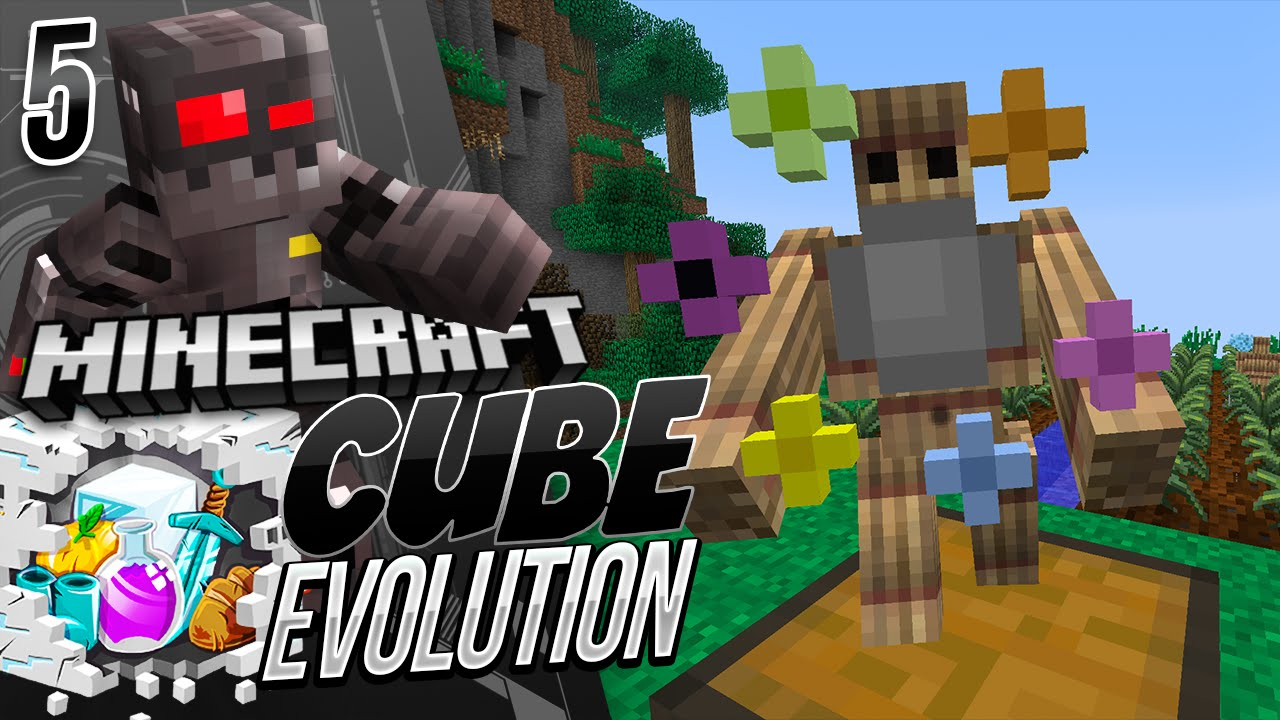 Minecraft Cube Evolution Episode 5 Golem Friends Youtube