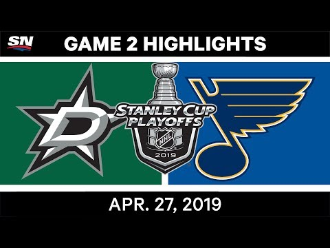 NHL Highlights | Stars Vs. Blues, Game 2 - April 27, 2019