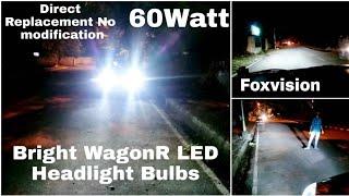 WagonR LED Headlight Bulbs Upgrade | Foxvision LED Headlights