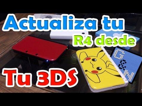 Actualizar tu tarjeta R4 usando misma consola 3ds