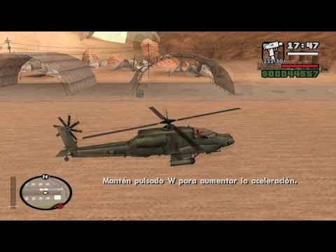 GTA San Andreas (PC) Learning to fly - Prueba #5: Helicoptero: Despegue (Helicop