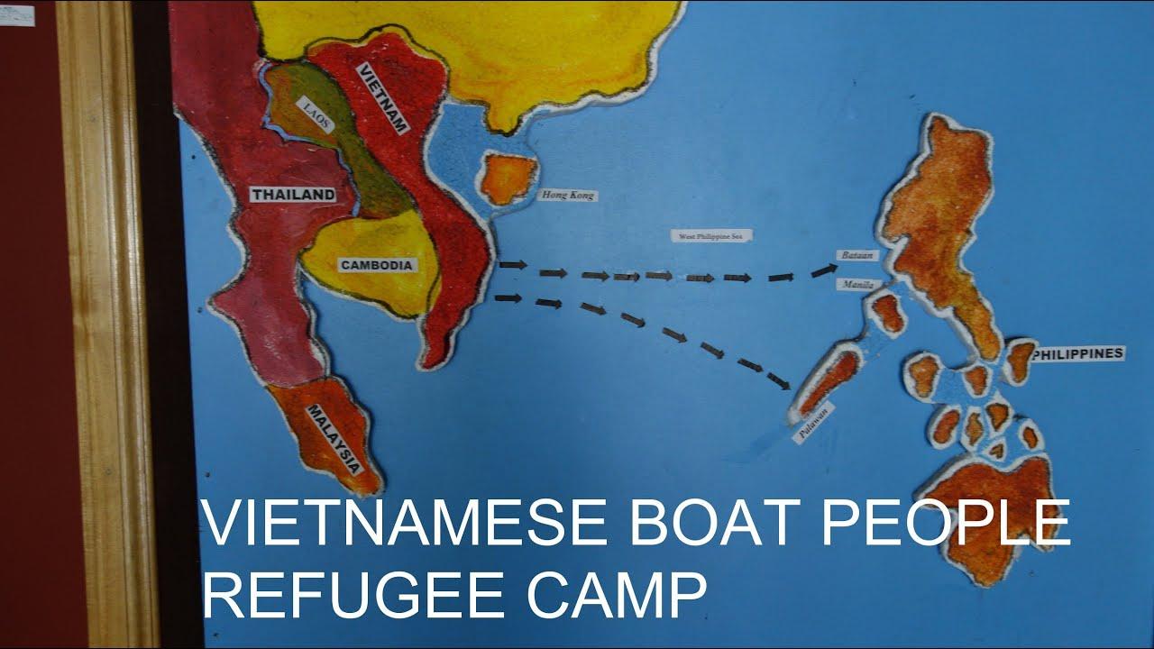 Vietnamese Boat People On Grande Island In