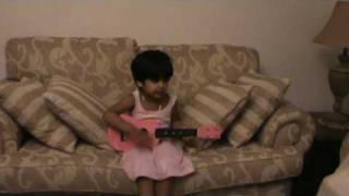 sweta rai on guitar