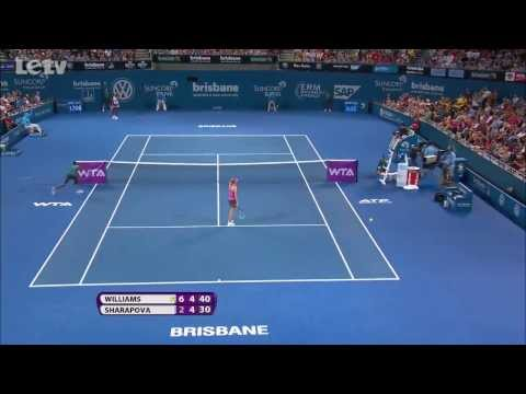 Serena Williams' Amazing Defense VS Maria Sharapova - Brisbane International (SF)