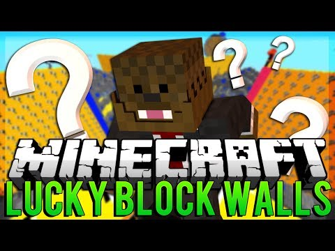 Minecraft: Lucky Block WALLS PVP! Modded Minigame