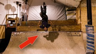 BACKFLIP to FAKIE CLOSE CALL in der Skatehalle Chemnitz!