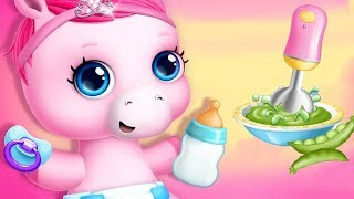 Fun New Born Pony Pet Care - Pony Sisters Baby Horse Care - Babysitter Daycare Fun Games For Kids