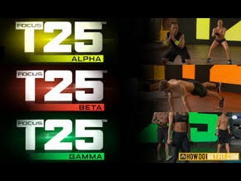 Focus T25 Workout Schedule - YouTube